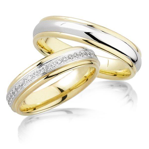 Geelgouden trouwringen met 0.48 crt. – AD43